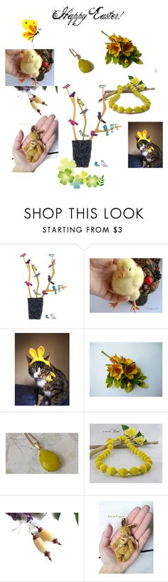 """""""Happy Easter!"""" by varivodamar ❤ liked on Polyvore featuring Giallo and modern"""