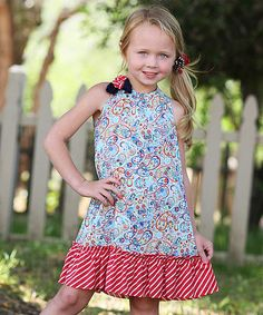 Look what I found on #zulily! Blue & Red Floral Convertible Dress - Toddler & Girls by Freckles + Kitty #zulilyfinds