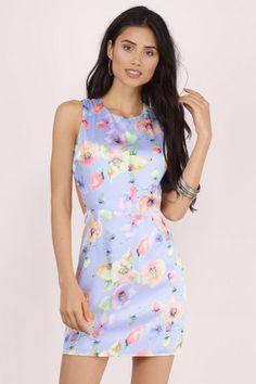 Bright Floral Mini Dress