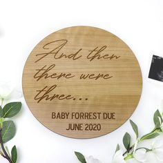 Large Baby Pregnancy Announcement Personalised Timber Sign - Laser Engraved Cherry Timber Pregnancy Announcement Photos, Rough Day, Secret Santa Gifts, Personalized Signs, Having A Baby, Peace Of Mind, Laser Engraving, The Help, New Baby Products