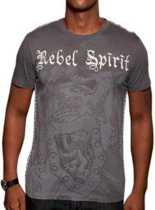 Rebel Spirit Eagle Crest Shirt (Charcoal)