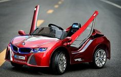 BMW i8 Style Ride On Car For Kids With Butterfly Doors and Remote Control | Red