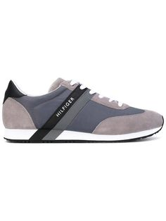 Lightweight Material Mix Sneaker, Sneakers Basses Homme, Blanc (White 100), 44 EUTommy Hilfiger