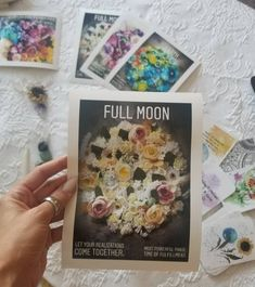 Items similar to Full Moon Flower Collage Photography Print on Etsy Corn Moon, Thunder Moon, Strawberry Moons, Affirmation Cards, Moon Photography, Pink Moon, Harvest Moon, Deck Of Cards, Yule