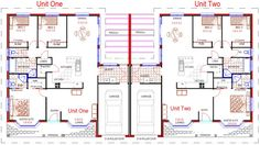 Duplex Floor Plans With Double Garage Duplex Plans With Garage In Middle
