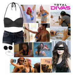 Total Divas: Nattie's Photo Shoot by samantha-vance on Polyvore featuring Topshop, Allurez, Fornash and Episode