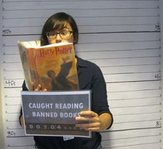 Get caught reading #bannedbooks at your #library! #bannedbooksweek