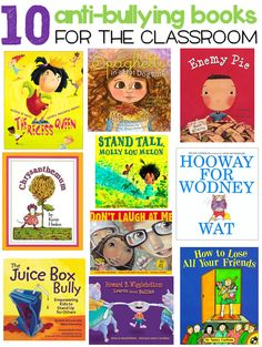 Anti-Bullying Books for the Classroom ~ Free compilation with a bit of info about each book. need these books # Anti-Bullying Book list Books About Bullying, Bullying Prevention, Classroom Community, Mentor Texts, Character Education, Character Development, Physical Education, Teaching Reading, Teaching