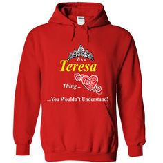 Teresa - #sweatshirt for teens #tumblr sweatshirt. CHECK PRICE => https://www.sunfrog.com/Names/Teresa-Red-7262416-Hoodie.html?60505