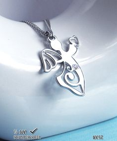 Axcesi 1005 Angel necklace  pendant with crystal stone  by Axcesi