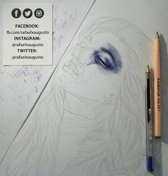 Officially started. [S02X04:07] #Drawing #Pen #Portrait #Beautiful #rafaelxaugusto