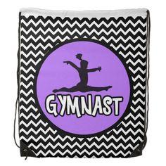Chevron Gymnast Drawstring Backpack | Zazzle #gymnastics