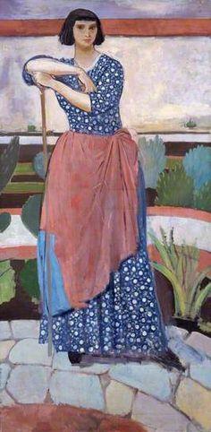 Dorelia McNeill (1881–1969), in the Garden at Alderney Manor by Augustus Edwin John, 1911