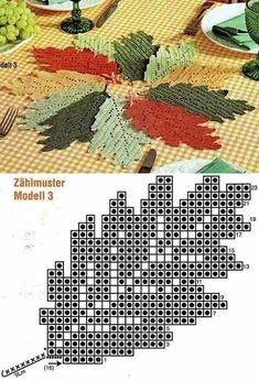 Crochet Patterns Fall Crafts: Make & Sell: How to Make Crochet Leaves - Slideit. Crochet Leaf Patterns, Crochet Leaves, Crochet Fall, Crochet Diagram, Doily Patterns, Crochet Chart, Thread Crochet, Crochet Motif, Crochet Doilies