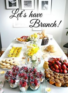 ▷ 1001 + delicious and quick brunch ide . - lets-have-brunch-brunch-recipes-brunch-recipes-for-brunch-brunch-ideas-for-brunch The Effective Pic - Champagne Brunch, Brunch Drinks, Mimosa Brunch, Party Drinks, Party Party, Brunch Appetizers, Brunch Foods, Table Party, Party Buffet