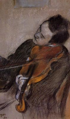 Artemis Dreaming, L'Altiste (The Violist) Edgar Degas Large...