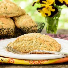 Lavender Poppy Seed Scones are a wonderful breakfast treat or afternoon snack.