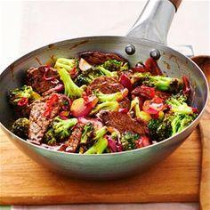 Broccoli met biefstuk en ui.....vervang de maïzena voor arrowroot