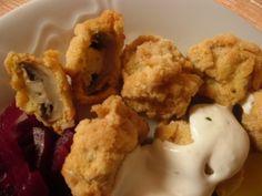 Žampióny v pivním těstíčku Jamie Oliver, Cauliflower, Stuffed Mushrooms, Cooking Recipes, Homemade, Vegetables, Foods, Stuff Mushrooms, Food Food