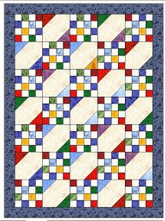 Elizabeth's Quilt Projects - scrap quilt design