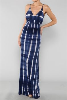 Blue Tie Dye Maxi Dress: use code: SUMMER for free shipping