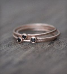 Trio of 14k Rose Gold Stacking Rings | Jewelry Rings | Porter Gulch |