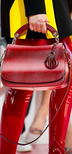 Christian Dior Fall 2015 RTW detail ♔Très Haute Diva♔ - black handbags, small ladies purse, tan purse *ad