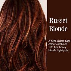 more auburn hair blonde highlights Honey Blonde Highlights, Red To Blonde, Caramel Highlights, Color Highlights, Brown Hair With Red Highlights, Fall Hair Highlights, Blonde Color, Reddish Brown, Red Blonde Brown Hair