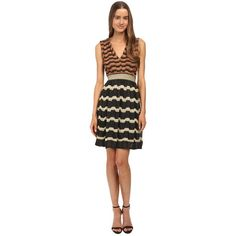 M Missoni Bi-Color Lurex Greek Key Open Back Dress ($795) ❤ liked on Polyvore featuring dresses, black, black a line cocktail dress, circle skirt, black circle skirt, skater skirt and open back black dress