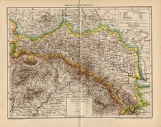 Antique map of Galicia (Eastern Europe) and Bukovina from 1894 by OjiochaPrints on Etsy Page Maps, Antique Maps, Vintage Diamond, Eastern Europe, Craft Supplies, Vintage World Maps, The Originals, Antiques, Frame