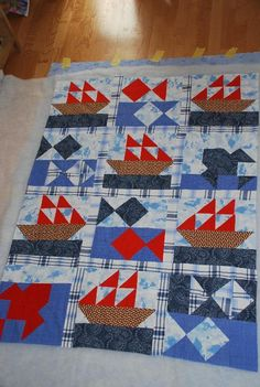 Sailboat quilt-would make awesome pirate ships!!