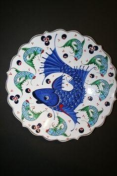 "12"" Turkish Ceramic Plate"