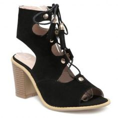 Fashion Lace-Up and Chunky Heeled Design Sandals For Women