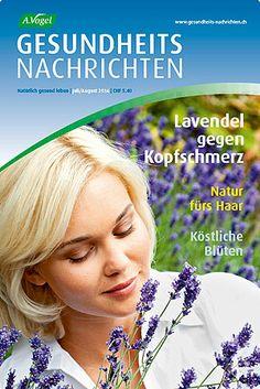 """Juli/August-Ausgabe 2014 der """"A.Vogel Gesundheits-Nachrichten"""". Hier die Top-Themen:  Kopfweh: Lavendel hilft / Haare farben? Aber sanft! / Serie Giftpflanzen Teil 4: Die Dosis macht das Gift / Grosses Sommerrätsel mit einem zweirädrigen Super-Preis! / Köstlichkeiten aus Blüten zaubern. Weitere Infos und kostenlose Probe-Abo (3 Ausgaben): http://www.avogel.ch/de/gesundheits-nachrichten/index2.php"""