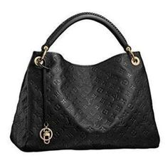 Black Glamorous LV Leather Satchel