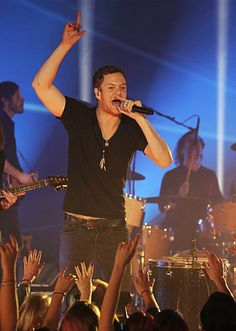 Imagine Dragons perform:Radioactive at the 2013 MTV EMA in Amsterdam, Netherlands.