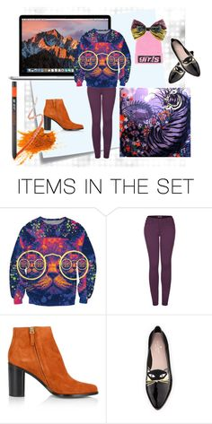 """cat cat cat"" by kharkovtourist ❤ liked on Polyvore featuring art"