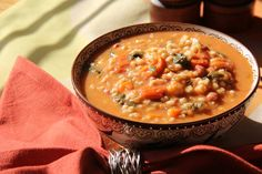 This vegetable barley soup is packed with grains, beans, veggies, greens and herbs to boost immunity and keep you satisfied in the Winter.