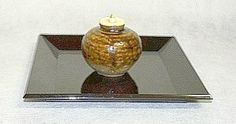 chaire on bon, Tea caddy on a small tray, for Bondate procedure