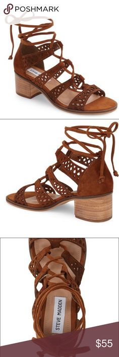 Randee Ghillie Lace Sandal ~ Chestnut Steve Madden Randee Ghillie Lace Sandal in Chestnut brown color. I wore these twice, but don't fit me. Size 6, fits a slim 6.5 as well. They're in excellent shape. Very comfy too! Steve Madden Shoes Sandals