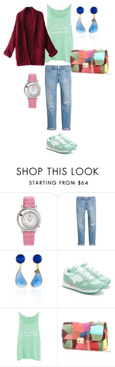 """""""КакСочетатьЦвета"""" by katerina-nikitina on Polyvore featuring Versace, White House Black Market, Saucony, Wildfox and WithChic"""
