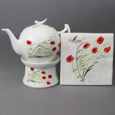 Tealogic - Teekanne 1L + Stövchen +Servietten - Caprice: Amazon.de: Küche & Haushalt, Teapot, Poppy, Napkins