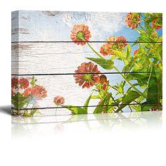 Wall26 - Flowers reaching towards the Sunlight - Rustic F... https://www.amazon.com/dp/B019Z72UMY/ref=cm_sw_r_pi_dp_x_y-skyb8ZD48W1