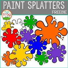 It looks like someone made a mess in the art room and splattered paint everywhere! This free set of paint splatters is a sample of our soon-to-be-released full Paint Splatters Clip Art set. It contains one splatter in primary and secondary colors! Cute Clipart, Frame Clipart, Art Clip, Preschool Charts, Pretty Things, Primary And Secondary Colors, Trans Art, Doodle, Teacher Freebies