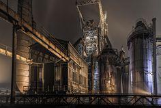 Henrichshütte-Hattingen @ Night- beside by MichaelSanderDU, via Flickr
