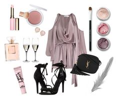 """""""Untitled #96"""" by giotaversace ❤ liked on Polyvore featuring Zimmermann, Clarins, Topshop, Bare Escentuals, Riedel, Schutz, Chanel, H&M, Yves Saint Laurent and Beauty Rush"""