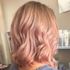 I absolutely love this hair color: rose gold