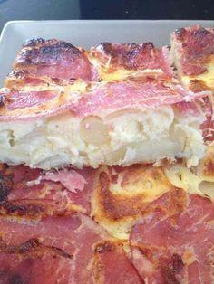 Quiche sans pâte bacon, pomme de terre et oignons WW 4pts