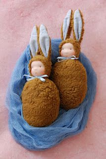 Tutorial to make bunny doll...just too cute...M & M, something for you to try?!
