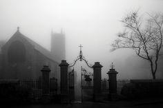 black and white, dark, and cemetery image Dark Gothic, Resurrection Cemetery, The Darkness, Darkness Falls, Gothic Aesthetic, Dartmoor, Dark Photography, Dark Places, Elizabeth Ii